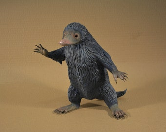 Life size sculpture of the Niffler from fantastic beasts and where to find them. (Painted)