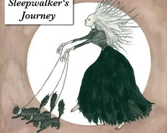 Sleepwalker's Journey - High Quality Fine Art Print - Albrecht Dürer Paper