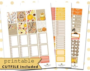 GIVE THANKS Weekly Planner Sticker Kit/Planner Stickers for use with Erin Condren Life Planner/Thanksgiving Planner Stickers/November Set