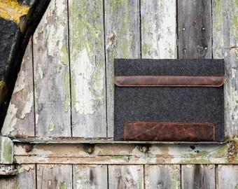 Dark Felt Asus Zenbook Case. Asus sleeve for zenbook 3 deluxe, vivobook,rog, chromebook series, asus chomebook case,asus case, laptop sleeve