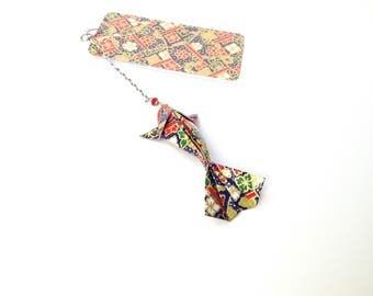 Fish origami, origami, Japanese carp, koi washi, japanese bookmark bookmark