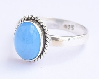 Chalcedony Ring, Chalcedony Stone Ring, Silver Ring, Solid Sterling Silver Ring, Sterling Silver Ring,size 3 4 5 6 7 8 9 10 11 12 13