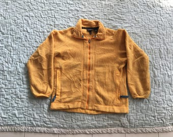 Vintage PATAGONIA Yellow Womens Small Synchilla Fleece Sweatshirts Coats Jackets