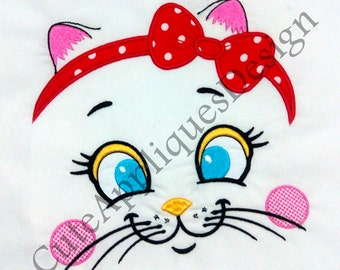 Lovely Cat Face Digital Embroidery Design No 1145