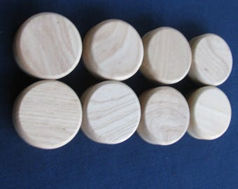 8 Wooden Caps for Canning Jars