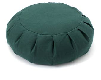 Round Zafu Meditation Cushion - Forest Green