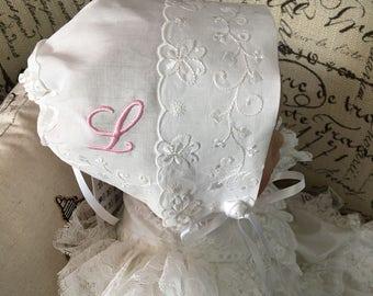 Baby Handkerchief Bonnet, Magic Handkerchief Bonnet, Keepsake Bonnet, Poem, Boxed