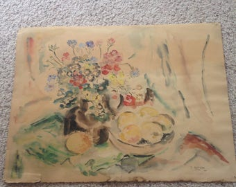 Vintage original water color Butzon