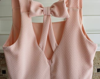 Bow Back Light Pink Sweetheart Dress