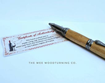 Victorian style wooden ballpoint pen, handmade, father's day gift, gifts for him, gift for her, graduation gift, 5th wood anniversary gift,