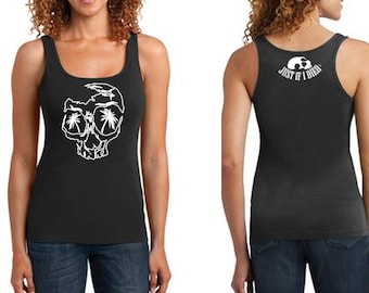 SoCal Skull outline ribbed tank