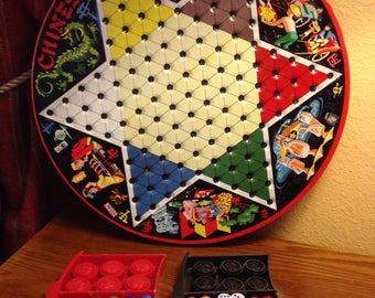 """Vintage Chinese Checkers Tin Game - """"Pixie"""" Game by Steven"""