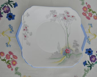 Art Deco Shelley Bone China cake plate Ideal China ws 0148 Lawleys Regent Street