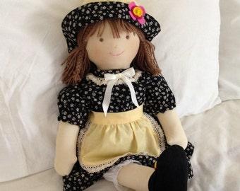 doll's fabric trapo.58cm-23inchs.handmade dolls.toys.dolls. dolls.muneca Handmade fabric