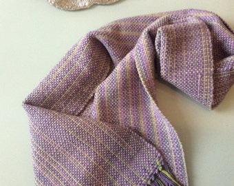 Handwoven Alpaca and merino wool scarf
