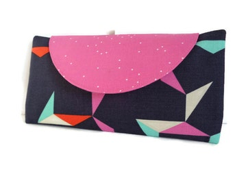 wallet, ladies wallet, womens purse, coin purse, gifts for her, zippered wallet, mothers day gift, geo print, womens gift, card slot wallet