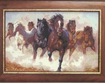Cross Stitch Kit Horses