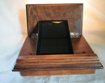 Wood tablet desk, tablet desk, tablet lap desk, tablet kitchen desk, wood desk, wood tablet stand, tablet stand, tablet holder, tablet desk