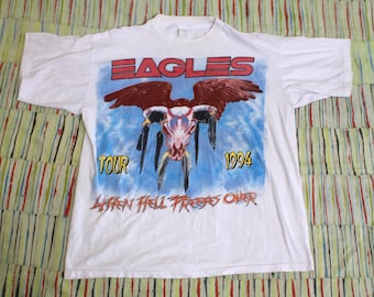 Vintage 90's Eagles When Hell Freezes Over Tour Shirt, size Large-XL