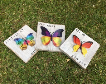 Large Wooden Butterfly Home Decoration