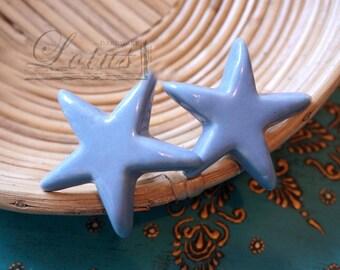 Starfish Ceramic Knob - Cabinet knob - Drawer knob - Drawer pull