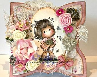 OOAK Dandelion Tilda in Pink