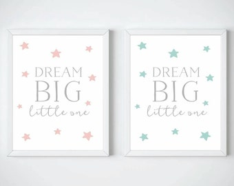 Dream Big Little One Print -Nursery Print