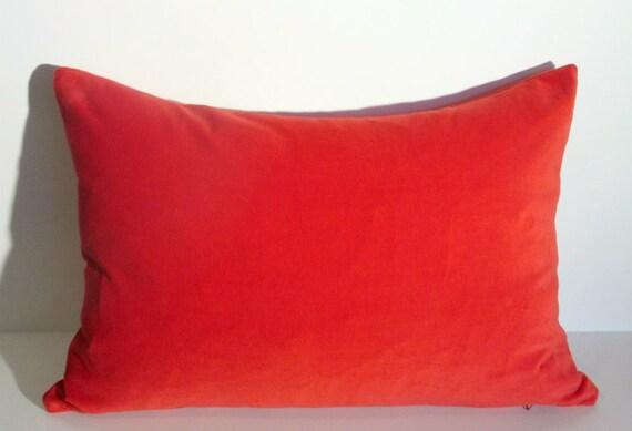 Red Pillow Cover Velvet Red Velvet Decor Lumbar Velvet