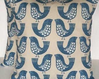 "2 x 16"" (40cm x 40cm) Iliv Scandi Birds Capri Cushion Covers"
