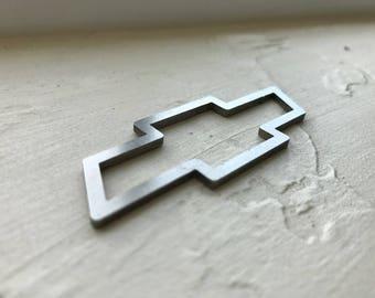 Chevrolet Chevy Bowtie  Titanium  Keychain