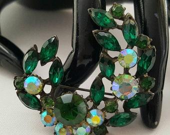 Iridescent Green Stone Pin