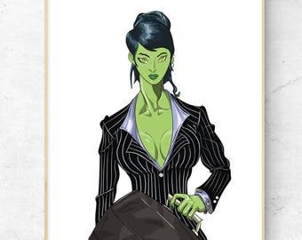 She-Hulk Jennifer Walters Marvel Limited Signed Art Print