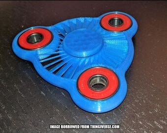 Turbine Triple Bearing Fidget Spinner [3D Printed]