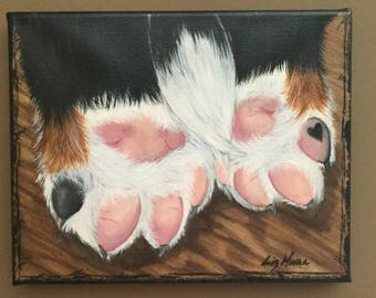 It's Pawsitively Love! Bernese Mountain Dog Painting