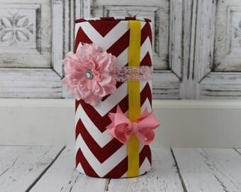 Bow Holder Pink Red Chevron Headband Holder Hair Bow Holder Hair Clip Holder Girls Headband DIY Baby Shower Gift Hair Bow Organizer Nursery