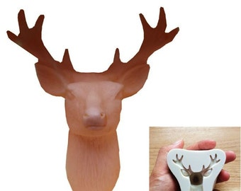 Deer Mold Clay Polymer Mould Cake Baking Chocolate Soap Silicone Ceramic Antler Diy