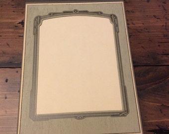 Vintage 30s, Photo Matte, Cardboard Photo Holder Frame (B414)