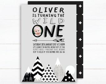 1st Birthday Invitation Boy | Wild One Invitation | Digital Invitations | 2nd Birthday Invite