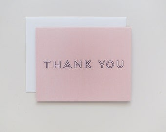 Peach Thanks (Set of 8 cards w/envelopes)