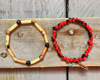 "Duo of bracelets ""Nature"""