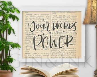 """Words Have Power - 8x10"""" Printable"""