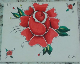 Rose 8x10 alcohol marker