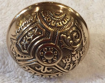 Outstanding Vintage Late 1800's Victorian Style Brass Door Knobs Rescued from Hyde Park Mansion in Chicago - Professionally Polished