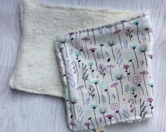 beautiful flower baby comforter, super soft minky, flower pattern