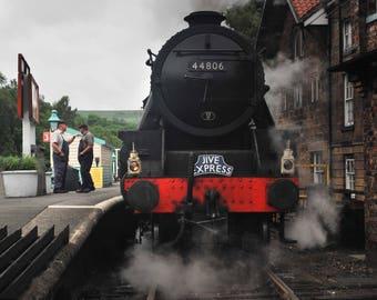 original, photograph, steam train, vintage, Jive Express, Jive Express Steam Enging, original photograph, original photograph