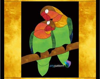 Lovebirds Applique Quilt Pattern
