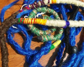 Dreadlock Subscription Bag / (One Time Only) Read Description / Clip in Dreadlock Grab Bag / Blue Synthetic Dreadlocks subscription Box