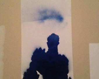 "Iceman ""Potential"" Stencil painting"