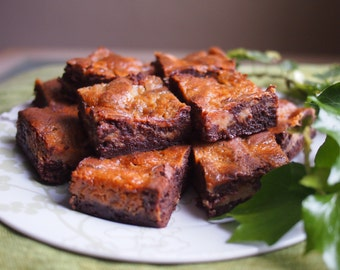 Salted Caramel Swirl Chocolate Brownies