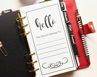 Personal Information Kit | This Planner Belongs to... | Planner Dashboard |